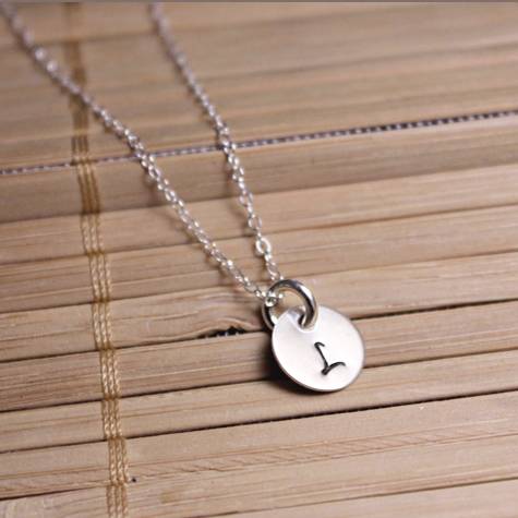 c9363bce2a650 Circles of Love Necklace – Tiny Disc with Initial